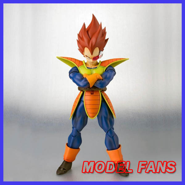 "FÃS MODELO ""IN-STOCK"" SDCC SHF Vegeta Super Saiyan Dragon Ball Z Action Figure Frete grátis"