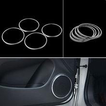 4x салона боковые двери стерео Динамик Аудио Звуковая рамка кольцо крышки отделка Стикеры ABS, пригодный для Chevrolet Cruze 09 -14 стайлинга автомобилей