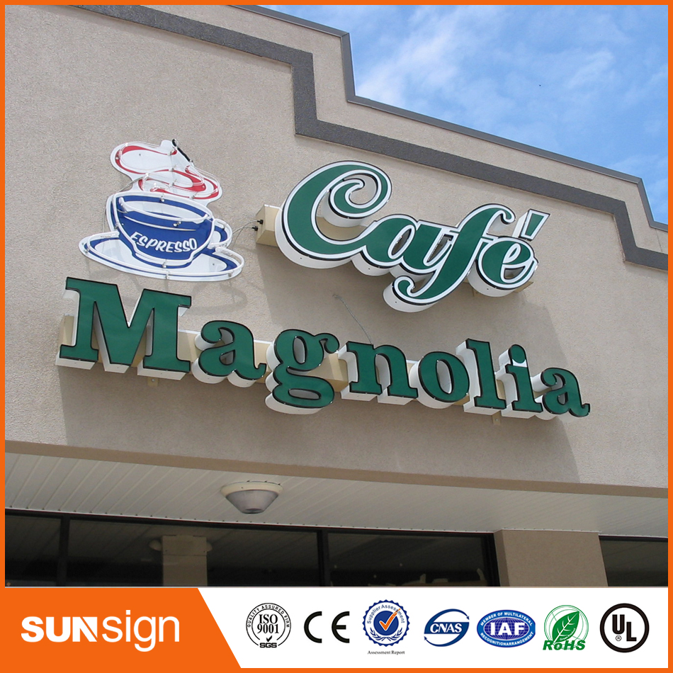 Custom Stainless Steel Strip Led Acrylic Sign Letters