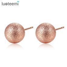 Luoteemi новые сферические серьги гвоздики для женщин вечерние