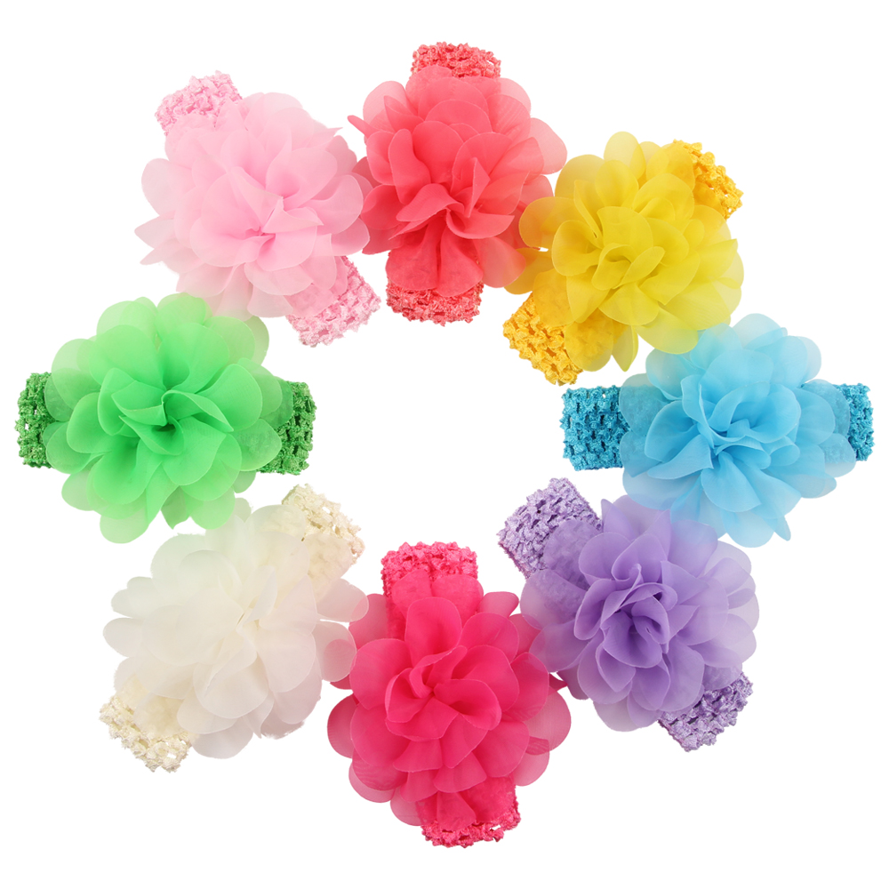 Online get cheap baby flower girl gifts aliexpress alibaba baby crochet hair band kids chiffon flower headband girls photography accessories funny giftchina dhlflorist Image collections