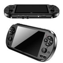 """32/64/128 бит """" 7"""" ЖК-дисплей X9 плюс двойной рокер 16G Портативный чехол для телефона в виде ретро-игровой консоли видео MP5 TF карты для GBA/NES 10000 игры"""