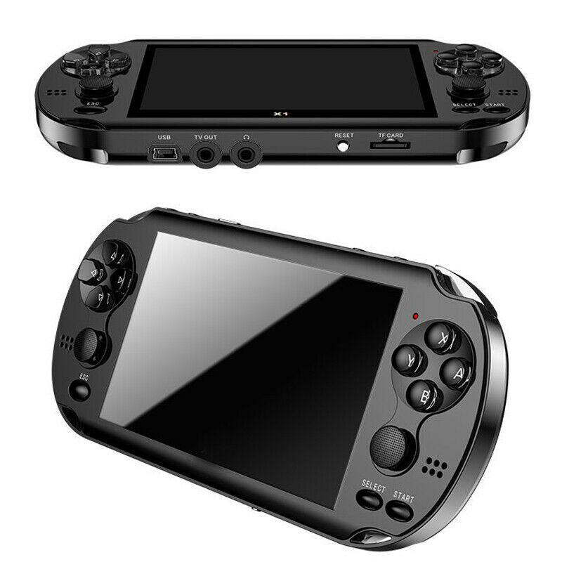 """32/64/128 Bit 5 """"7"""" LCD X9 plus Doppel rocker 16G Handheld Retro Spiel konsole Video MP5 TF Karte für GBA/NES 10000 spiele"""