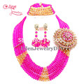 African Beads Jewelry Set Crystal Beads Necklace Set African Jewelry Set Crystal Jewelry Set  E1038