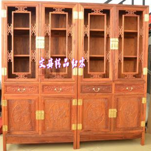 myanmar grass rosewood mahogany furniture wood bamboo and chrysanthemum merlin bookcase 2in1 two sets bamboo wood furniture