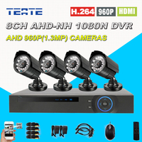 8 Channel CCTV System Home Safety 1080N Full 960P 8ch 1 3MP HD AHD DVR 1800TVL