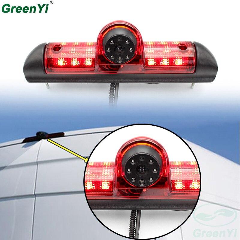 GreenYi Brake Light Backup Camera For Citroen JUMPER III Fiat DUCATO X250 Peugeot BOXER III LED Light Parking Reverse Camera цена