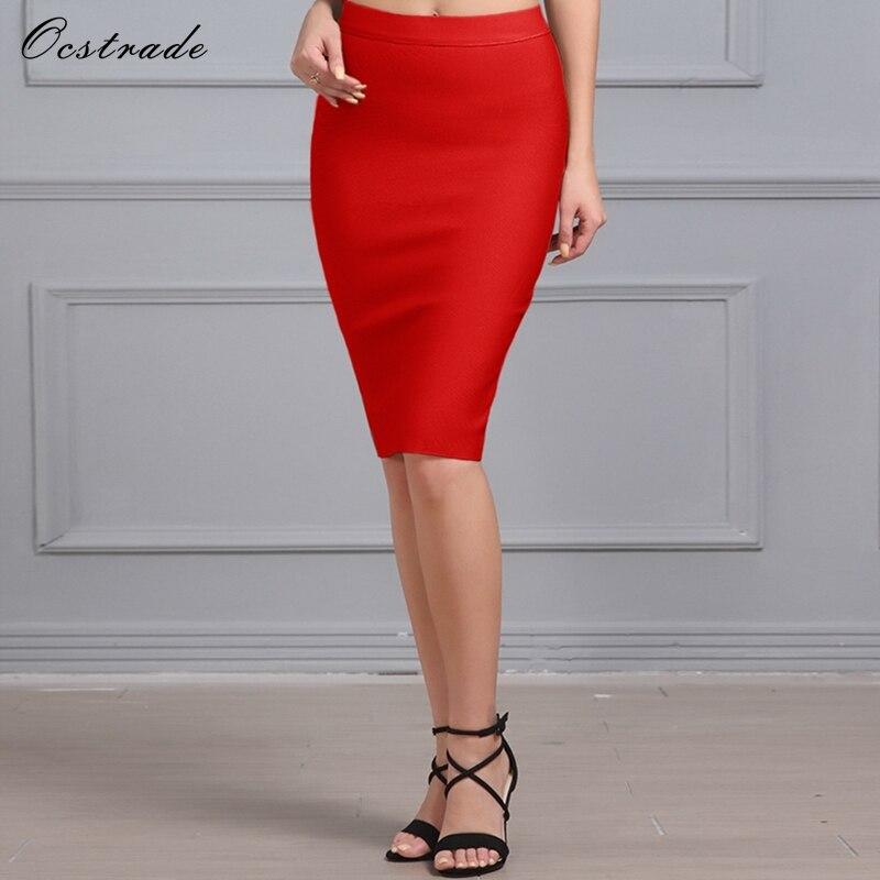 0e642849f Ocstrade de verano lápiz faldas mujeres 2017 nueva llegada albaricoque  vestido elástico de la ...