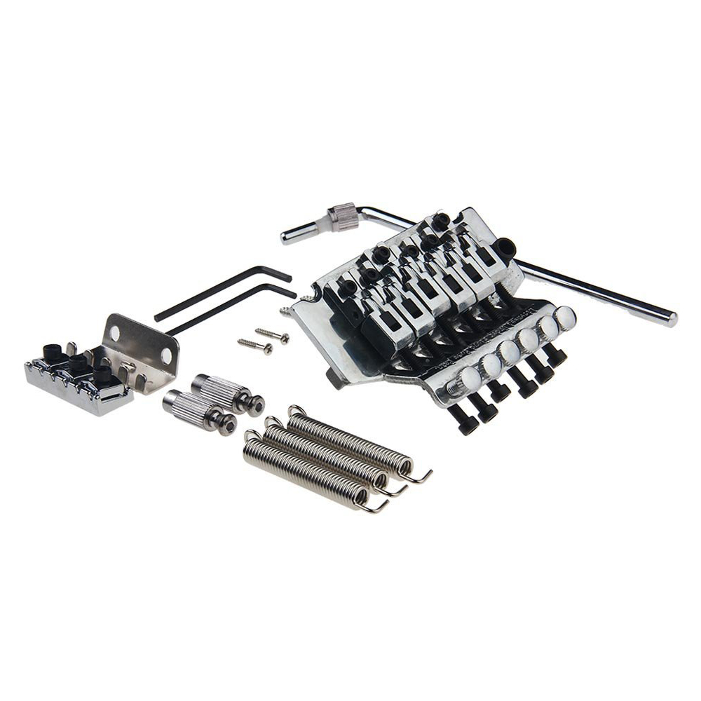SEWS-Double Locking Tremolo System Bridge For Electric Guitar Floyd Rose Parts Silver недорого
