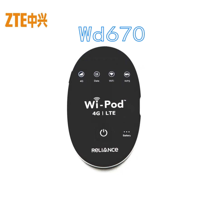 Unlocked ZTE WD670 Router Hotspot 4G LTE 850/1800 / 2300 MHZ  Unlocked GSM Up To 31 WiFi Users PK Huawei E5573