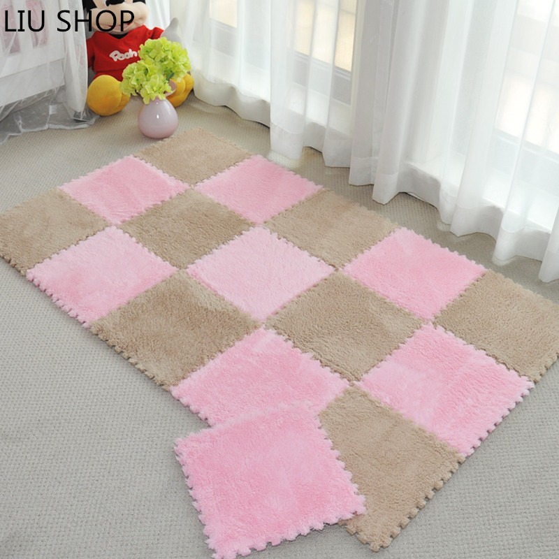 liu velvet puzzle carpet bedrooms suede soft sofa livingroom mats foam rug thick pad baby crawling playmat 3030cm mix colors in carpet from home garden - Soft Carpet For Bedrooms