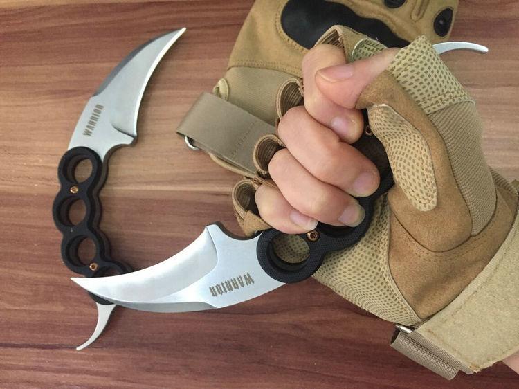 Couteau de sauvetage tactique couteau Karambit 9CR18MOV lame G10 poignée couteaux de survie en plein air Multi couteau utilitaire outils de chasse