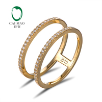 Free Shipping 14K Yellow Gold Diamond Wedding Band 0 20ct Round Cut Diamonds Eternity For Anniversary