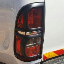 Accessori auto ABS Nero Opaco Posteriore Della Copertura Della Lampada Per Toyota Hilux Vigo 2012 2013 2014