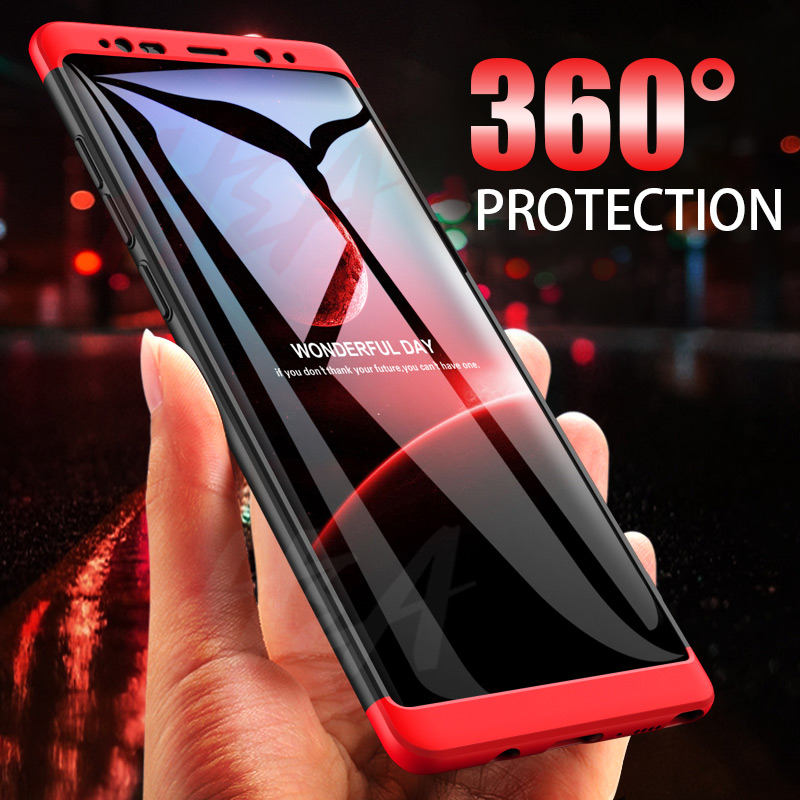 H&A 360 Full Protective Phone Case For Samsung Galaxy S9 S8 Plus S6 S7 Edge Matte PC Shockproof Cover For Samsung Note 9 8 Cases(China)
