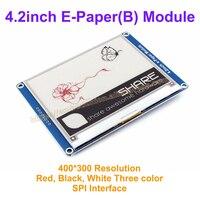 4.2インチe-紙(b)でベースボード400 × 300ドライブデモボードモジュール表示色:赤&黒&白