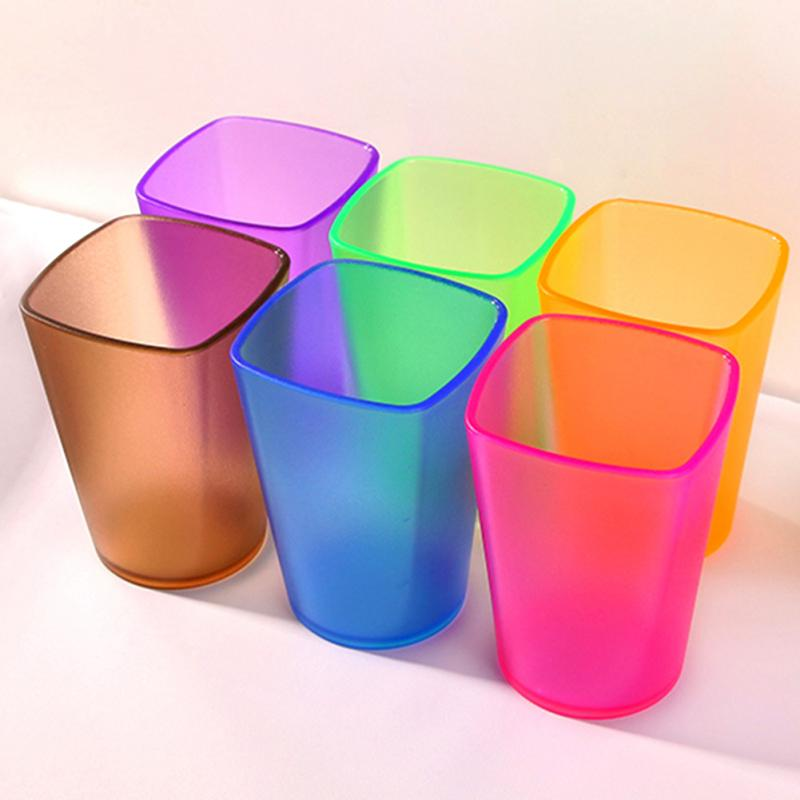 Toothbrush Holder Cups Eco-friendly Thicken Bathroom Tumblers Cup Translucent Frosted Rinsing Cup Wash Tooth Cup