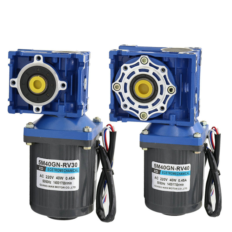 AC220v 40W NMRV30 worm gear motor, forward and reverse, suitable for mechanical equipment, power tools, conveyors, DIY, etc. dc12v 24v 90w 5d90gn permanent magnet gear motor with adjustable speed suitable for mechanical equipment power tools diy etc
