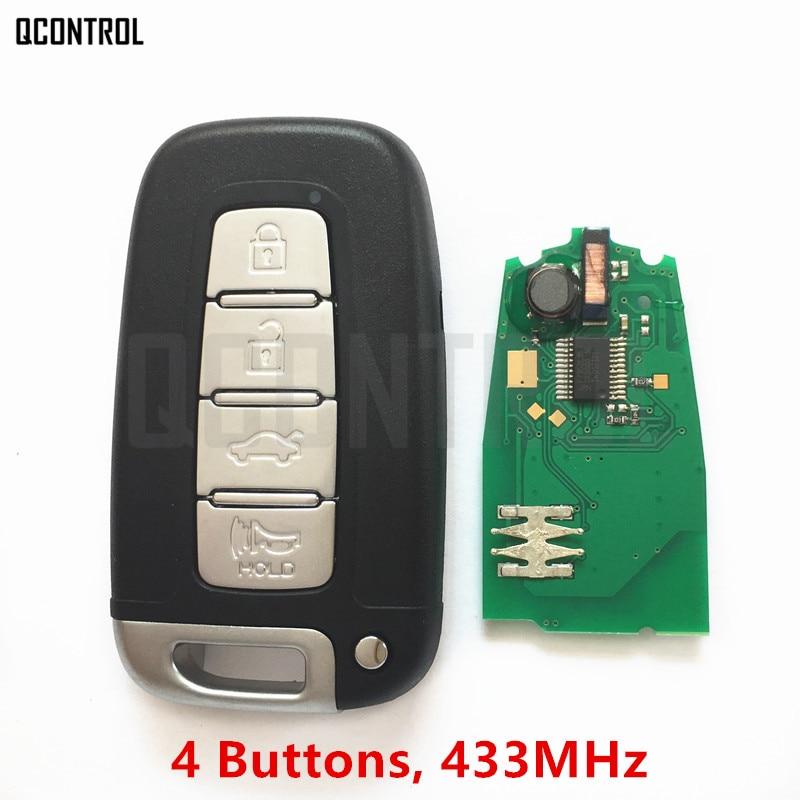 QCONTROL 433MHz Remote Smart Key for HYUNDAI 433MHz I30 I45 Ix35 Genesis Equus Veloster Tucson Sonata Elantra PCF7952 Chip