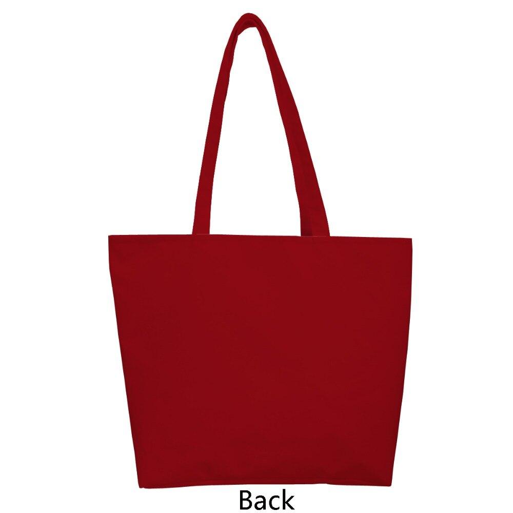 1 PC Santa gift giving for kids print custom Christmas style reusable foldable Shopping Bag nylon handbag shoulder tote bags