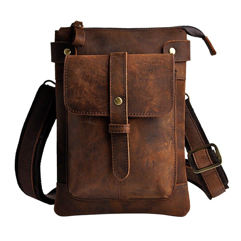 Mode äkta läder multifunktion casual midja pack cross-body väska - Bälten väskor - Foto 2