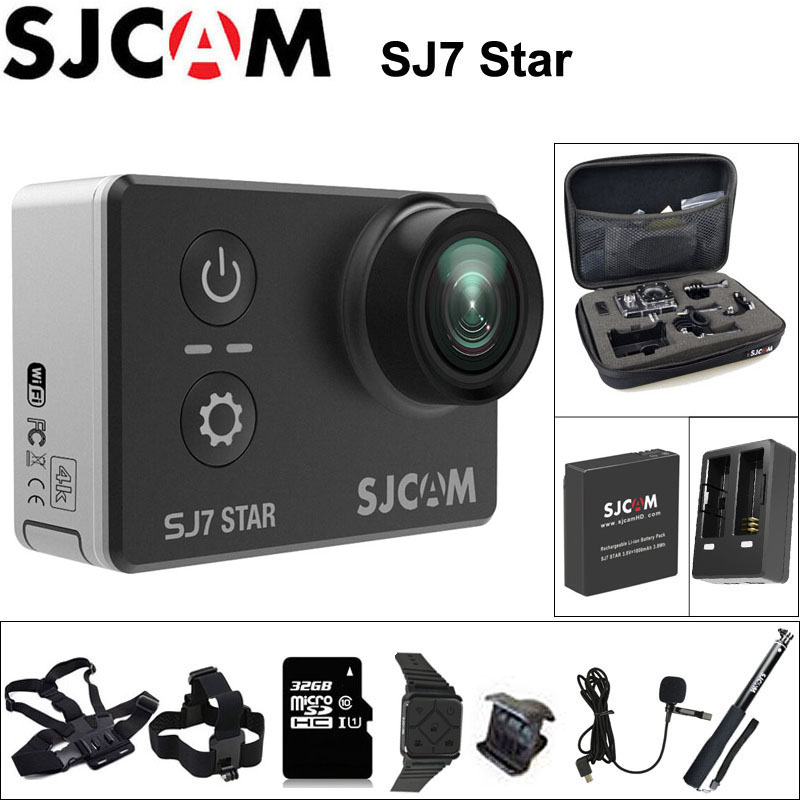 Original SJCAM SJ7 Star Action Camera 4k WiFi Sports DV Ultra HD 2.0 Touch Screen 30m Waterproof Remote Ambarella A12 SJ Cam