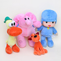 4pcs/lot Full Set POCOYO Cartoon Stuffed Animals Plush Toys Hobbies Loula & Elly & Pato & POCOYO plush toy