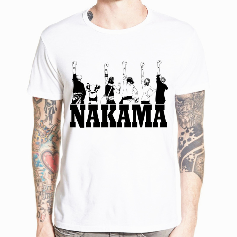 One Piece Luffy Ace Sabo Law Zoro And Nami Asian Size Men Women Japanese Anime   T  -  shirt   O-Neck Short Sleeves Tshirt HCP4477