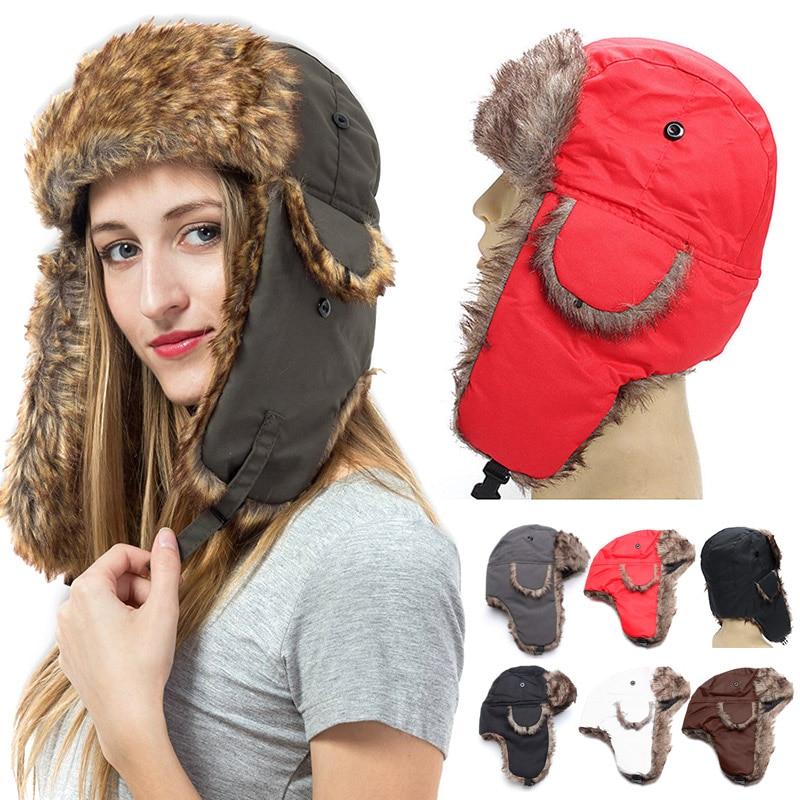 Detail Feedback Questions about Men Women Winter Hat Trapper Trooper ... 704fff2ae76