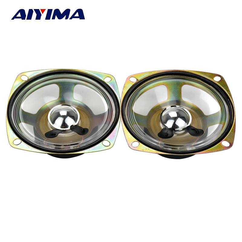 Aiyima 2PC 3Inch Waterproof Speaker 8Ohm 5W Square Loudspeaker Transparent Diaphragm Audio Speaker DIY