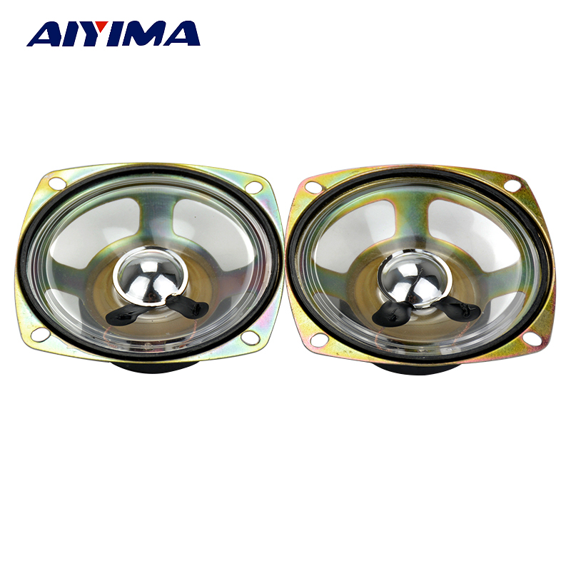 Aiyima 2PC 3Inch Waterproof Speaker 8Ohm 5W Square Loudspeaker Transparent Diaphragm Audio Speaker DIY цена