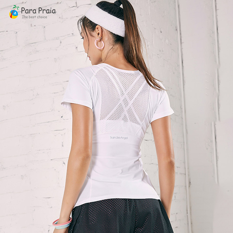 4 Colors Sportswear For Women Fitness Clothing Women Sports T-Shirt Gym Workout Yoga Female T-shirt Gym Woman Sportswear S To XL