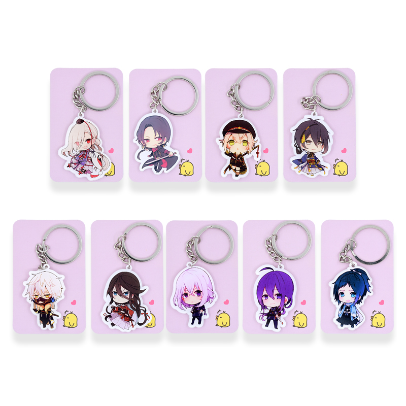 Touken Ranbu Online Keychain 9 Styles Game Key Chains Pendant Hot Sale Custom made Anime Key Ring PSS111-119