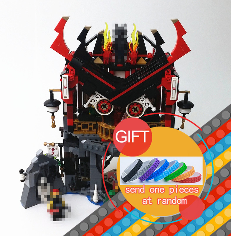 06078 857pcs Ninja Temple of Resurrection Movie set Compatible With 70643 Model Building Blocks Assemble Toys Bricks lepin lepin 663pcs ninja killow vs samurai x mech oni chopper robots 06077 building blocks assemble toys bricks compatible with 70642