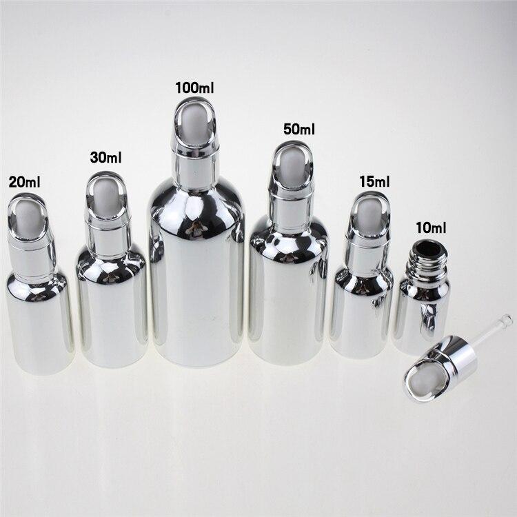 100st lege unieke mini 10ml glazen druppelflesjes, 10ml druppelflesje - Huidverzorgingstools - Foto 4