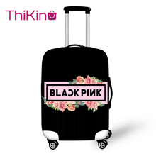 Thikin Blackpink Travel Luggage Cover for Teens Cartoon School Trunk Suitcase Protective Bag Protector Jacket