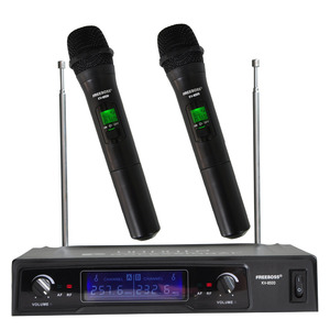 Freeboss KV-8500 VHF Handheld Wireless Microphone Dual Channel Handhold Karaoke Microphone Family Party Wireless Mic