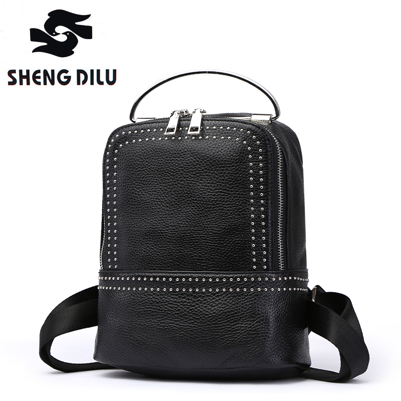 Women's backpack classic fashion trend high-end luxury schoolbag student bag Genuine Leather Cow Leather 247 classic leather