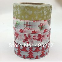 Lovely Festival Christmas Products Suits Christmas Handmade Gift DIY Japan Tape 4pcs Free Shipping 016006007