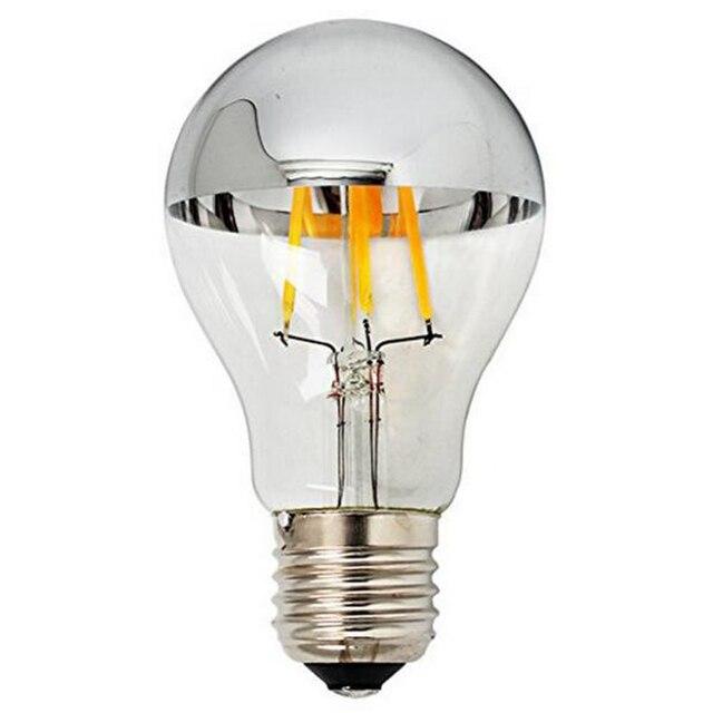 4 x half silvering reflective shadow 4w 6w a60 g95 led filament bulb with mirror e27