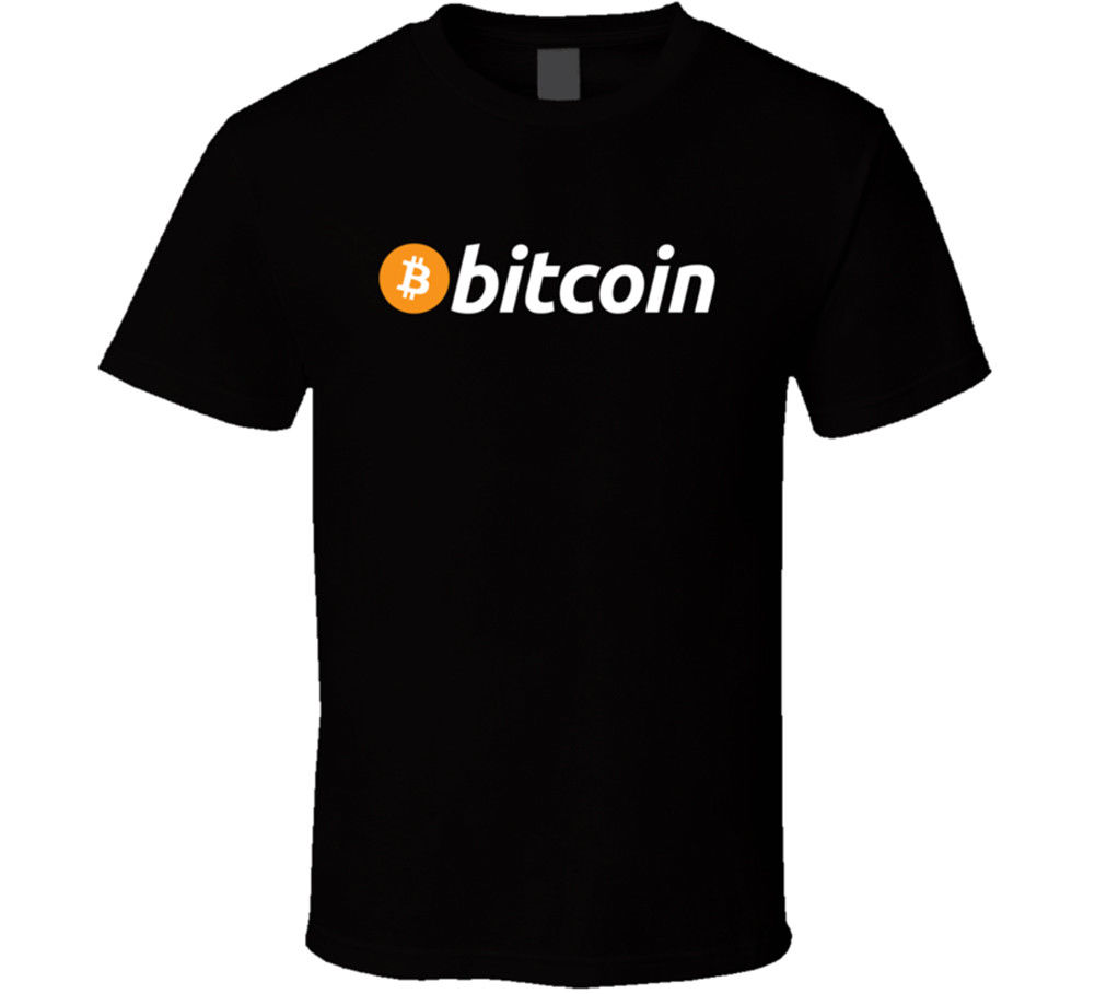 The New Bitcoin T Shirt BTC font b Crypto b font currency Blockchain Coin font b