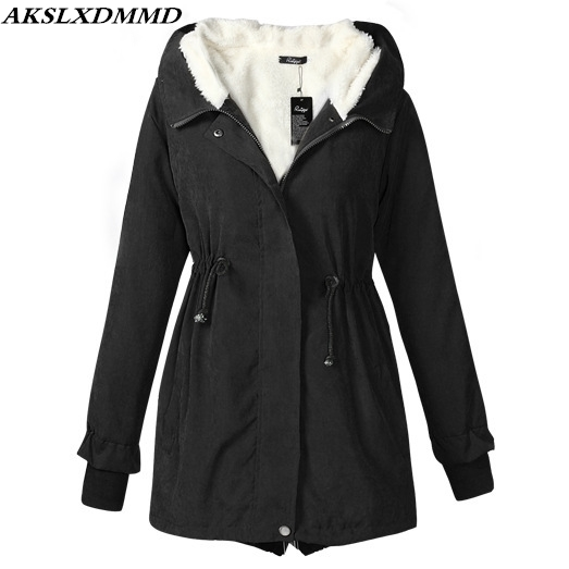 2019 New Women Autumn Winter Cotton Coat Hooded   Parkas   Solid Thicken Warmth Outerwear Fashion Winter Cotton Jacket Women CW045