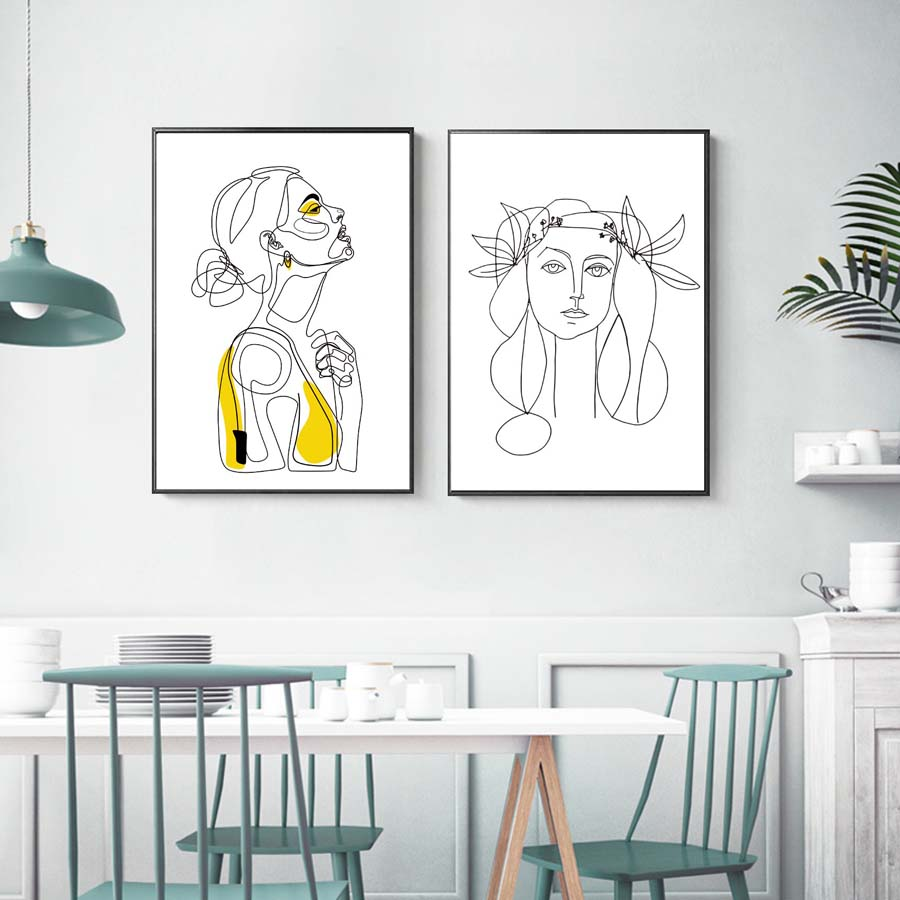 Abstract Women Line Drawing Nordic PosterPrints Modern Canvas Painting Wall Art Minimalist Wall Picture For Bedroom Home Decor (3)