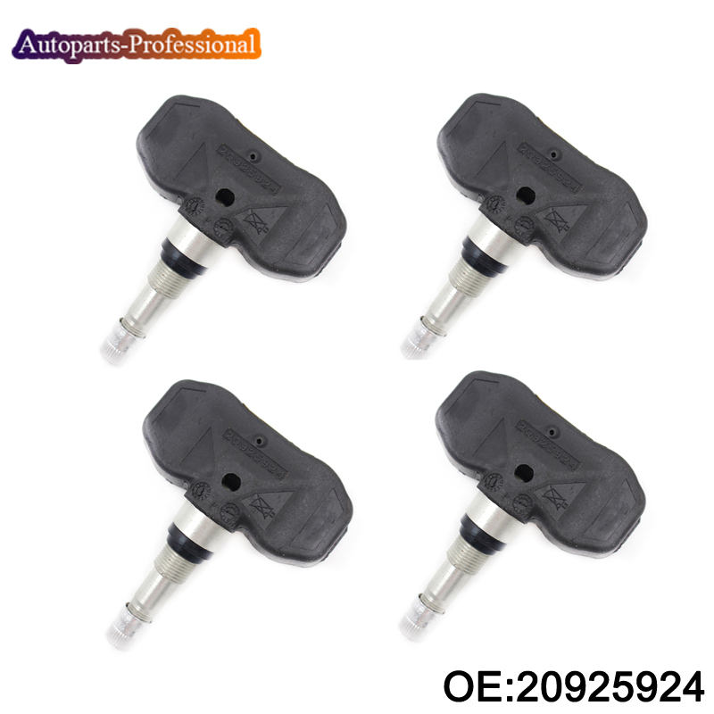 4 PCS New TPMS Tire Pressure Monitor Systems 315Mhz For Chevrolet Corvette Buick Allure Pontiac Torrent