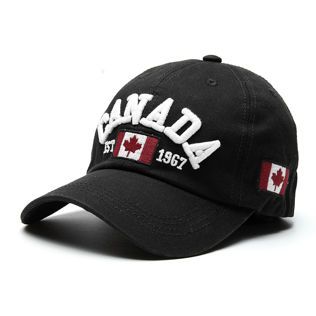 NaroFace Canada Letter Embroidery Baseball Caps Summer Sun Hat Hip hop Snapback Hat for Men Women Leisure Hat Cap 4Colors