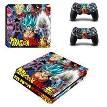 Anime Dragon Ball Super PS4 Slim Skin Sticker For Sony PlayStation 4 Console and Controllers Decal PS4 Slim Sticker Vinyl