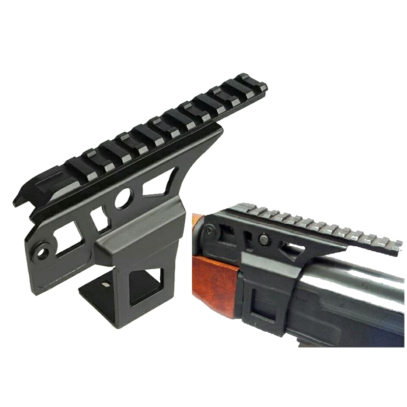 Hunting AK 47 AK 74 Ris Rail Side Front Top Scope Flashlight Laser Dot Sight Mount Receiver