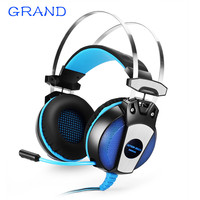 GS500 3 5mm Gaming Game Headphone Earphone Headband With Mic Stereo Bass LED Light For