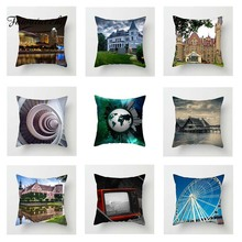 Fuwatacchi European Scenic Cushion Cover Windmill   Soft Throw Pillow Cover Decorative Sofa Pillow Case Pillowcase цены