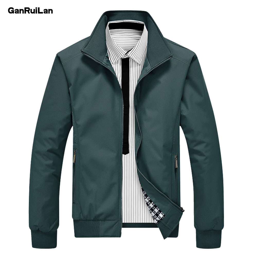 2019 Men Autumn Jackets and Coats Jaqueta Masculina Male Causal Fashion Slim Fitted Large Size Zipper Jackets Hombre JK18023